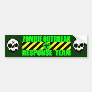 Zombie-Ausbruch-Warteteam Autoaufkleber