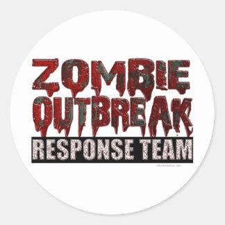 Zombie-Ausbruch-Warteteam Runder Aufkleber