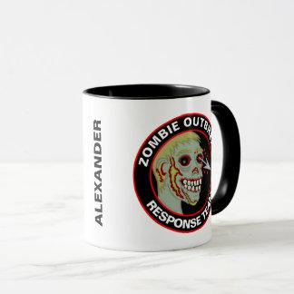 Zombie-Ausbruch-Warteteam-Spaß personalisiert Tasse