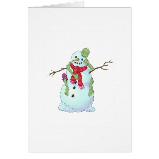 Zombie gegen Schneemann Karte