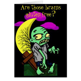 Zombie-Gluten geben frei? Grußkarte