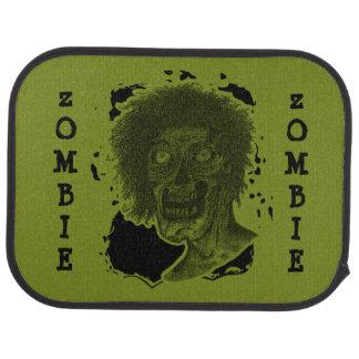 Zombie-illustriertes Zombie-Kopf-Grün u. Schwarzes Automatte