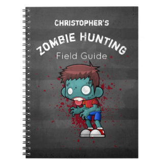 Zombie-Jagd-Feld-Führer lustig Spiral Notizblock
