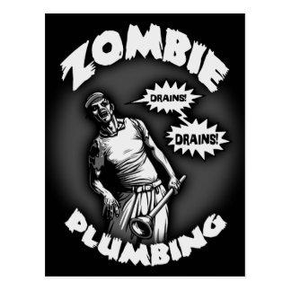 Zombie-Klempnerarbeit Postkarten