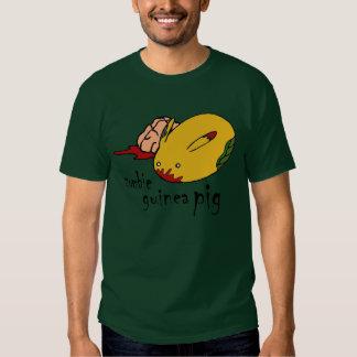 Zombie-Meerschweinchengrün mit gotischer Schrift T-shirt
