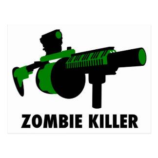 Zombie-Mörder Postkarte