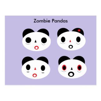 Zombie-Pandas Postkarte