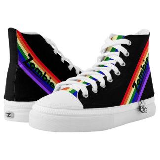 Zombie-Retro Regenbogen-Regenbogen-Zunge Hightops Hoch-geschnittene Sneaker