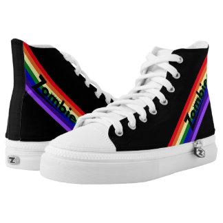 Zombie-Retro Regenbogen-Schwarzes Hightops Hoch-geschnittene Sneaker