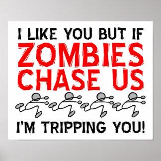 Zombie-stolpernd lustiges Plakat