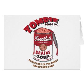 Zombie-Suppe Grußkarte