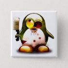 Zombie Tux (Linux Tux) Quadratischer Button 5,1 Cm