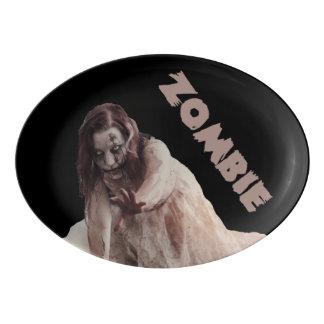 Zombie verheiratet porzellan servierplatte