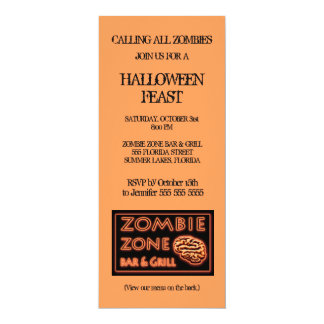 Zombie-Zonen-Halloween-Party Karte