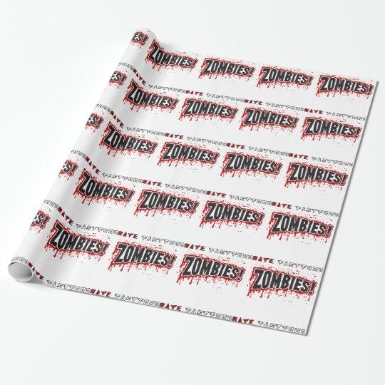 Zombies hassen Schnellimbiß Geschenkpapier