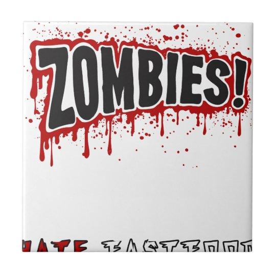 Zombies hassen Schnellimbiß Kleine Quadratische Fliese