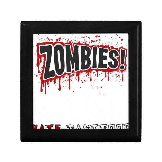 Zombies hassen Schnellimbiß Kleine Quadratische Schatulle