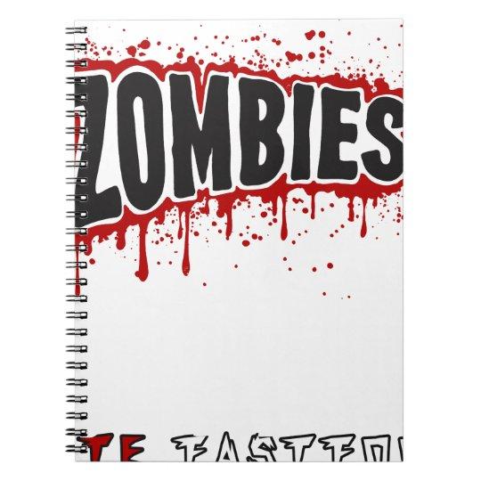 Zombies hassen Schnellimbiß Spiral Notizblock