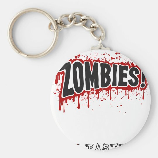 Zombies hassen Schnellimbiß Standard Runder Schlüsselanhänger