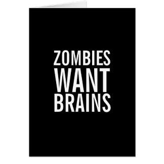 Zombies wollen Gehirne, Sie sind sichere Karte
