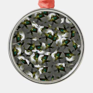 Zombiespielzeugentwurf Halloween-Geschenke Rundes Silberfarbenes Ornament