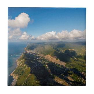 Zonguldak, Antenne, Schwarzmeerküste von der Kachel