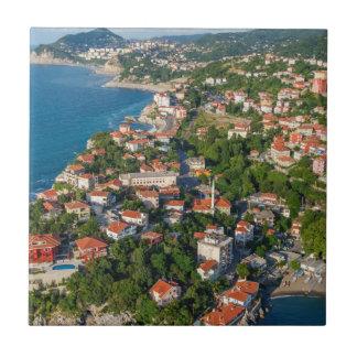 Zonguldak, Antenne, Schwarzmeerküste von der Keramikfliese