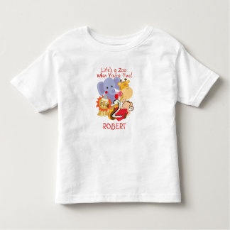 Zoo-Tier-fertigten 2. Geburtstags-Kinder T - Shirt