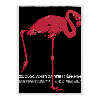 Zoologischer Garten-Vintages Reise-Plakat Münchens Poster