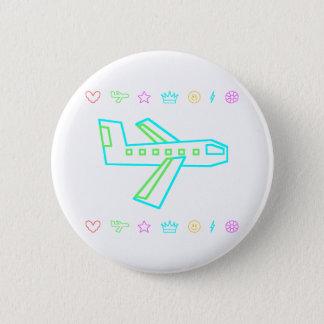 Zooper Flugzeug Runder Button 5,7 Cm