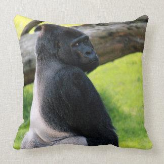 Zootiersilverback-Gorilla-Wurfs-Kissen-Geschenk Kissen