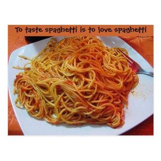 Zu den Liebe-Spaghettis Postkarten