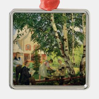 Zu Hause 1914-18 Quadratisches Silberfarbenes Ornament