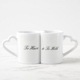 Zu Kaffee-Tassen-Set haben u. halten Liebestassen