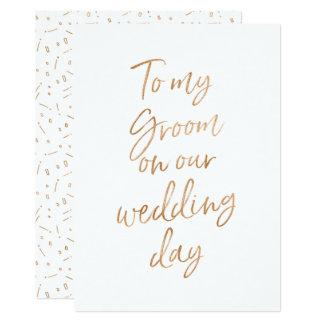 Zu meinem Bräutigam an unserem Hochzeitstag 12,7 X 17,8 Cm Einladungskarte
