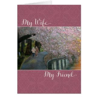 Zu meiner Ehefrau mein Freund am Tag der Mutter Karte