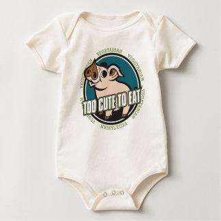 Zu niedlich Schwein essen Baby Strampler