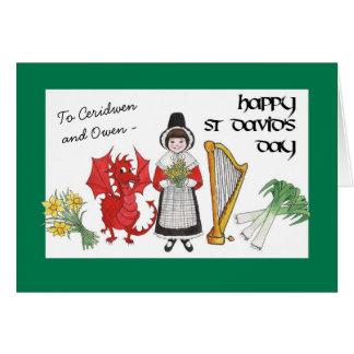 Zu personifizieren St David Tagesgruß-Karte Grußkarte