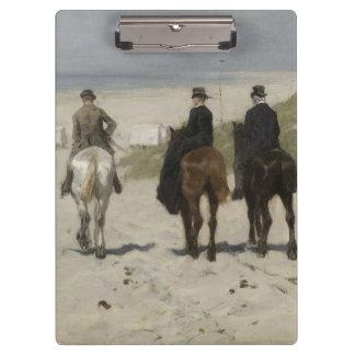 Zu Pferde Fahrt entlang dem Strand - Klemmbrett