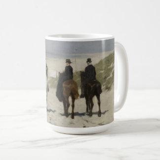 Zu Pferde Fahrt entlang dem Strand - Kunst-Tasse Kaffeetasse