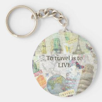 Zu reisen ls, zum zu leben Zitat Schlüsselanhänger