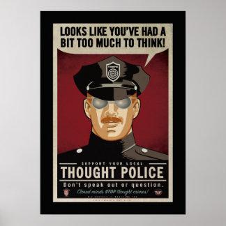 Zu viel, zum des Gedanken-Polizei-Plakats zu Poster