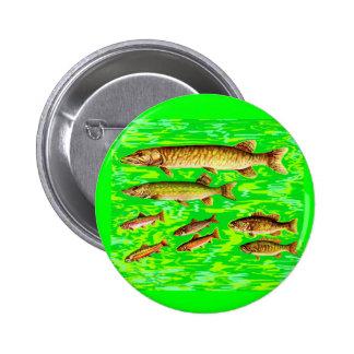 zu viele Fische im Meer Runder Button 5,7 Cm