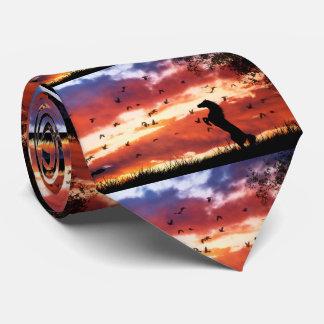 Züchtung des Pferds in der Bedruckte Krawatten