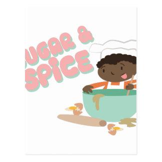 Zucker u. Gewürz Postkarten