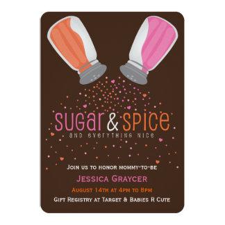 Zucker-und 12,7 X 17,8 Cm Einladungskarte