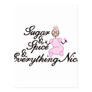 Zucker und Gewürz Postkarten