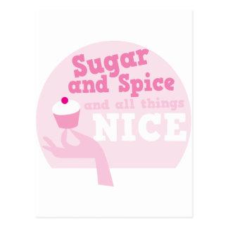 Zucker und Gewürz und alle Sachen nett! Postkarten