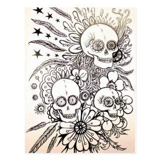 zuckern Sie Schädeltag der toten Postkarte