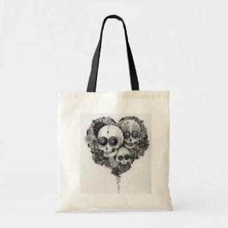 zuckern Sie schwarze u. weiße Blumenherztasche des Tragetasche